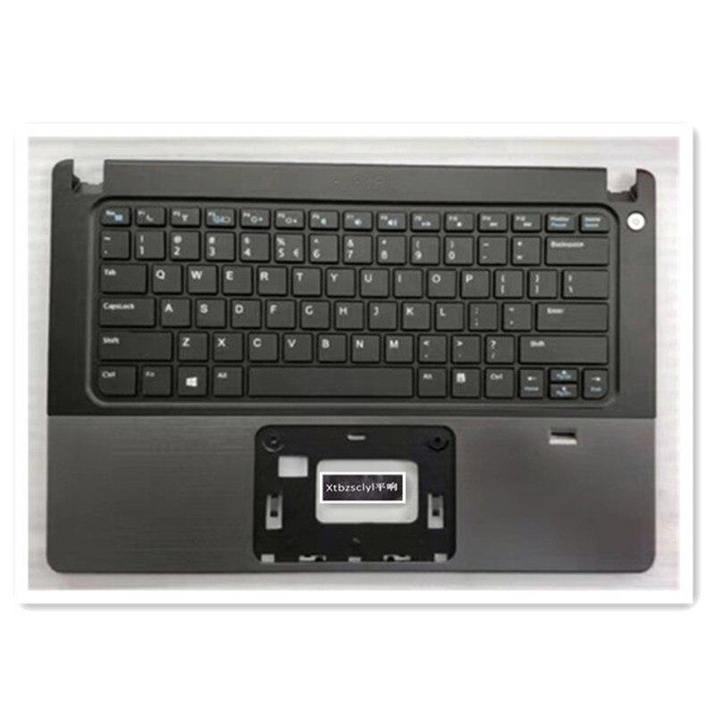 جديد ل ديل VOSTRO 14 5460 5470 5480 5439 العلوي العلوي غطاء الولايات المتحدة لوحة المفاتيح غطاء لابتوب بصمة