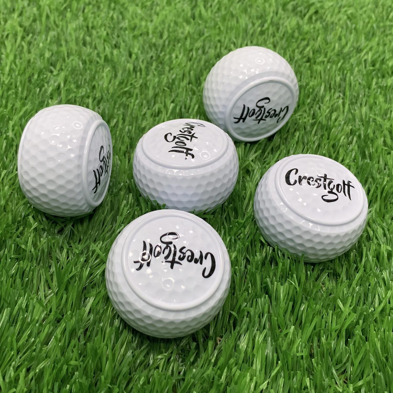 Оригинальные Твердые мячи для гольфа, 1 шт./5 шт., двухслойные мячи для начинающих, для вождения, тренировочные мячи