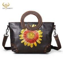 Genuine Leather Famous Brand Emboss Luxury Ladies Designer handbag Over The Shoulder bag Women Femal