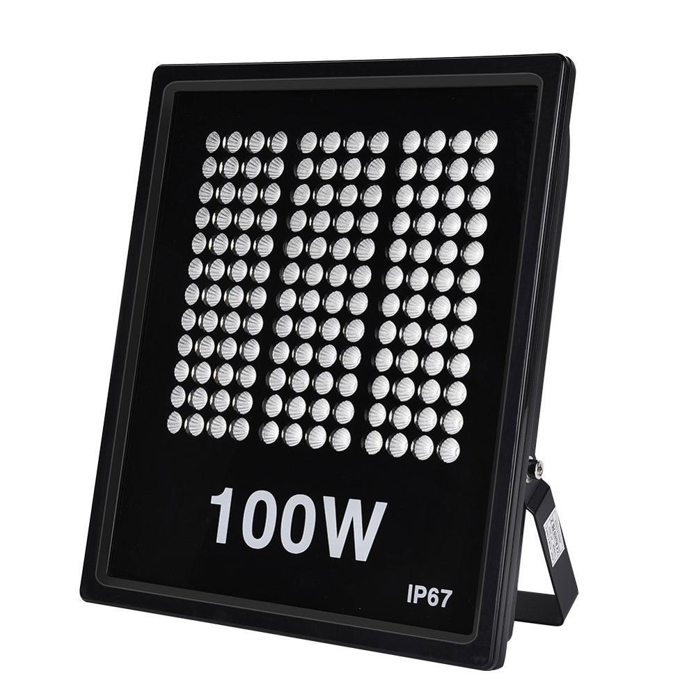 Luz de inundación Rectangular de 100W AC 220V 1000LM blanco cálido para cuadrados de jardín iluminación de carteles