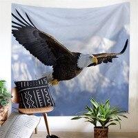 Гобелен с рисунком орла, настенное украшение для стен, пляжное полотенце и покрывало, аксессуары, одеяло