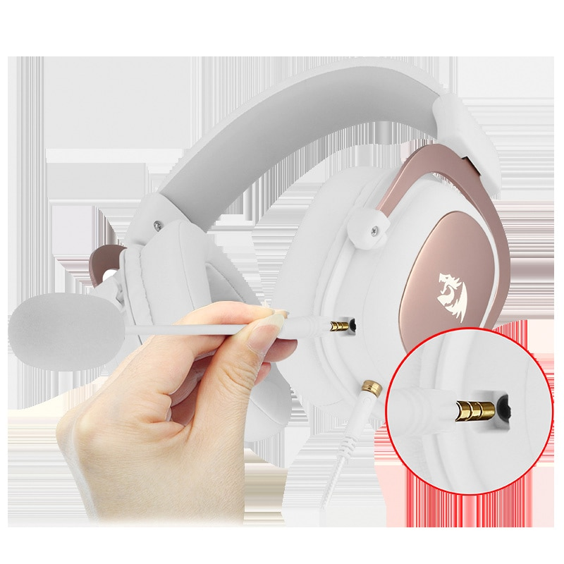 Redragon H510 Zeus Wired Game Headphone - 7.1 Surround Stereo - Memory Foam Ear Pad Removable Microphone For PC/PS4 enlarge