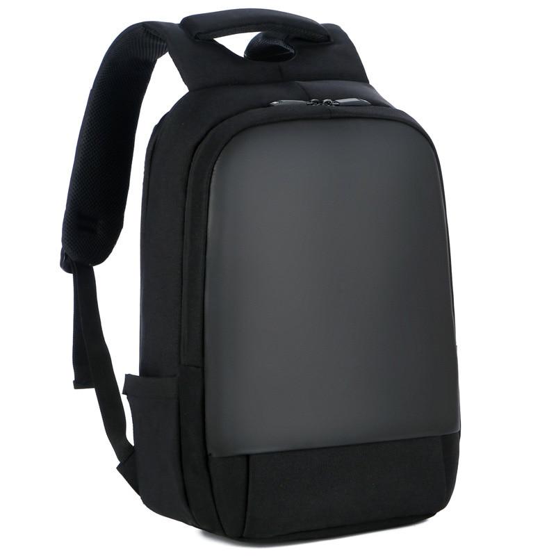 حقيبة ظهر للكمبيوتر المحمول مقاس 15.6 بوصة للجنسين ، حقيبة ظهر مكتبية ، للعمل ، أسود ، خفيف للغاية