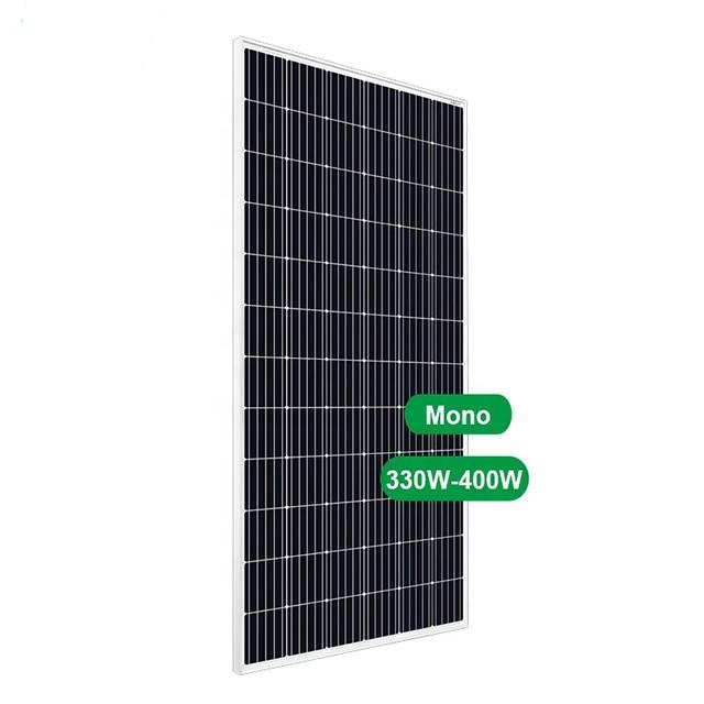 لوح شمسي جهدي ضوئي 400 واط لوحات أحادية 72 خلية