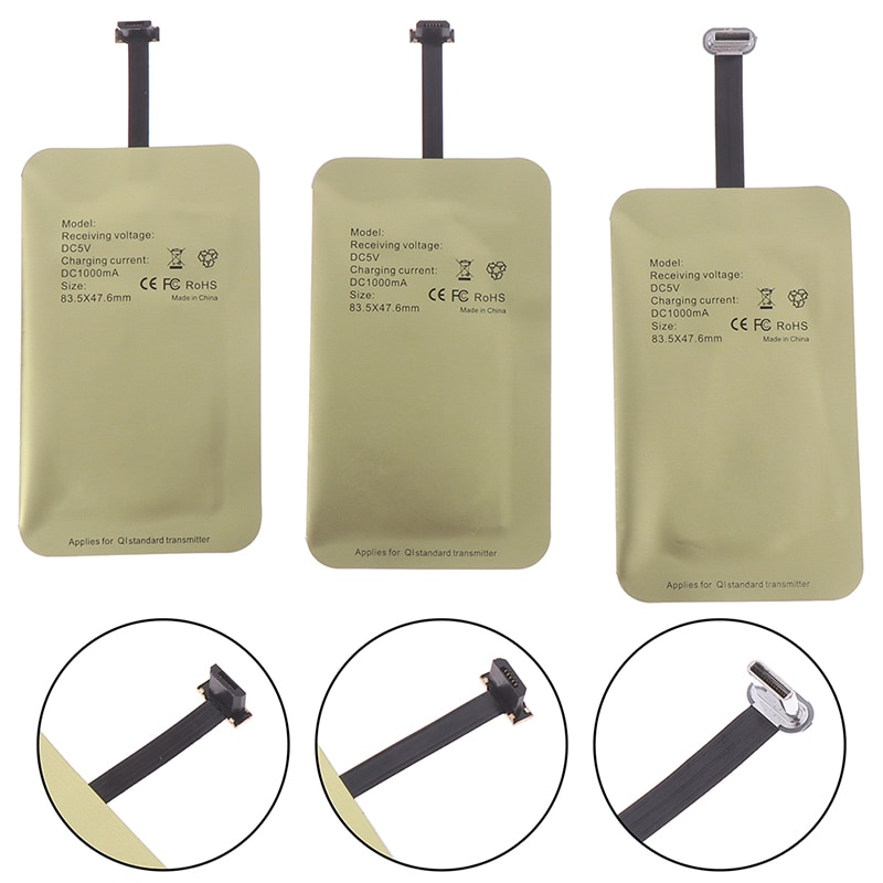 Qi kit de carga inalámbrica cargador del transmisor adaptador Receptor Micro USB Android tipo-C Micro USB kit para Xiaomi Huawei