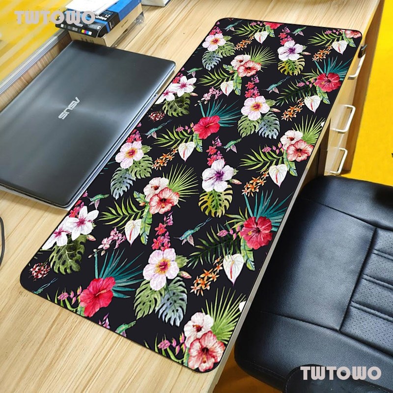 Flower Mouse Pad Large Pad Laptop Mouse Notbook Computer Creative Rubber Mat Gaming Mousepad For LOL