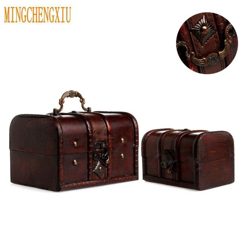 2 шт шикарные футляры держатель коробка для хранения ретро коробка для ювелирных изделий браслет ожерелье деревянный пират Винтаж сокровищ...
