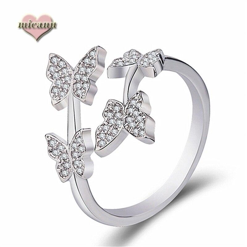 Anillo de mariposa de estilo japonés para mujer, joyería romántica exquisita, regalo...