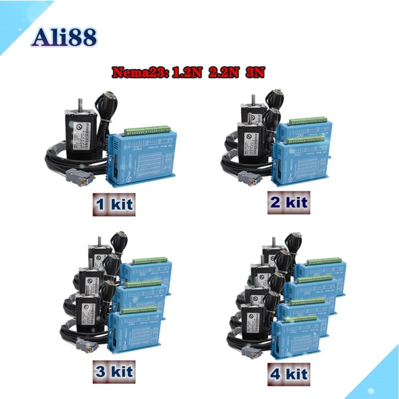 4 axis Closed loop motor kit: nema 23 Stepper motor Closed Loop system+servo Drive HBS57H with 3M ca