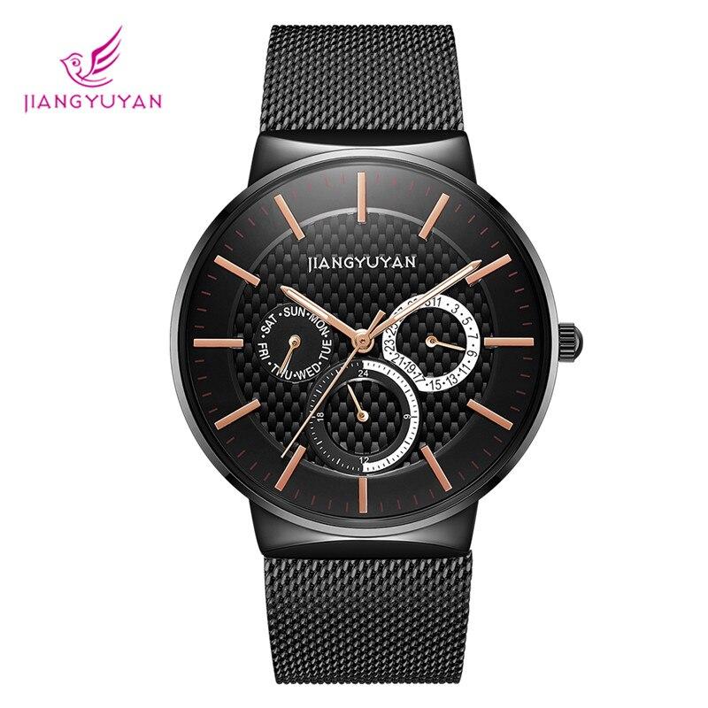 Marca de Luxo Ultra-fino à Prova Relógio de Quartzo Nova Masculino Inoxidável Moda Casual Dwaterproof Água Alta Qualidade Heren Horloge 2021 Aço
