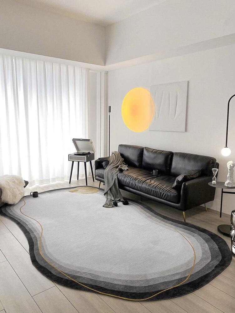 الحد الأدنى نمط غير النظامية السجاد لغرفة المعيشة خط بسيط تصميم غرفة نوم البساط النايلون سميكة طاولة للدراسة الكلمة حصيرة سجاد الشمال