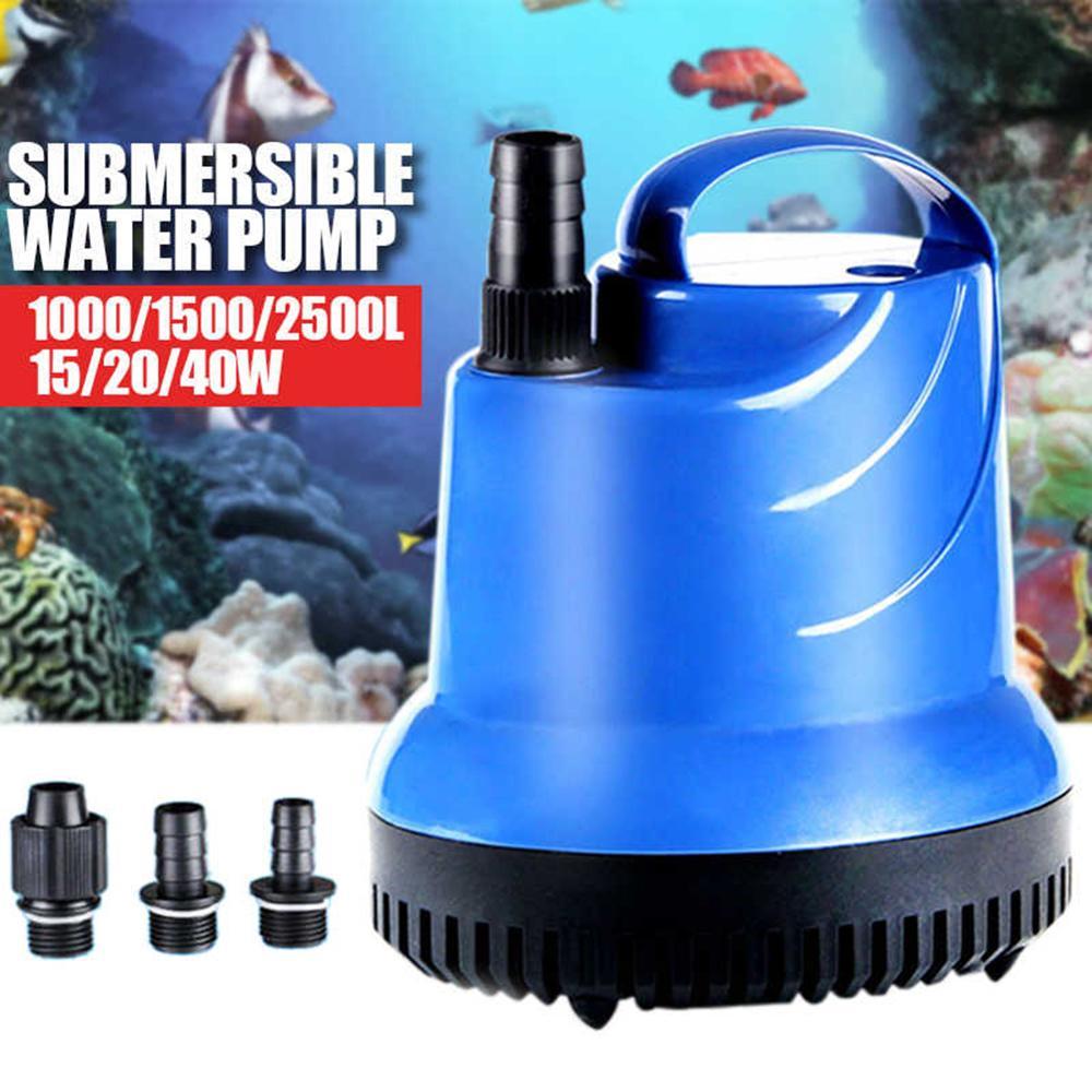 Bomba de água submersível para filtro de aquário, bomba de água ultraleve para piscina adaptador, adaptador