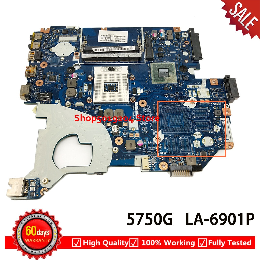 P5WE0 LA-6901P اللوحة المحمول لشركة أيسر 5750 5750G اللوحة MBRGK02002 MB. RGK02.002 HM65