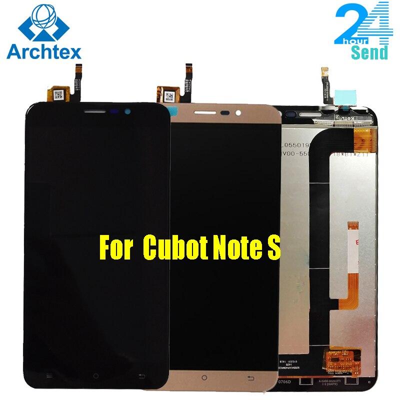 "Para Cubot Note S Original pantalla LCD + cristal táctil digitalizador montaje reemplazo 5,5 ""1280X720P Note S teléfono en stock"