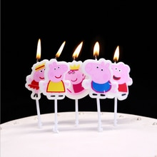 2020New Cakelove Свинка Пеппа, торт, свеча, товары для дня рождения, торта, Топпер, юбилей, торт, цифры, возраст, свеча, украшения для вечеринки
