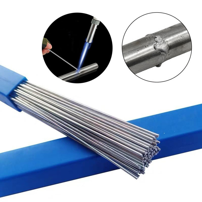 50 шт. низкотемпературные алюминиевые сварочные стержни флюс корд пайки провода 500 мм алюминиевые шланги для кондиционера в авто алюминиевы...