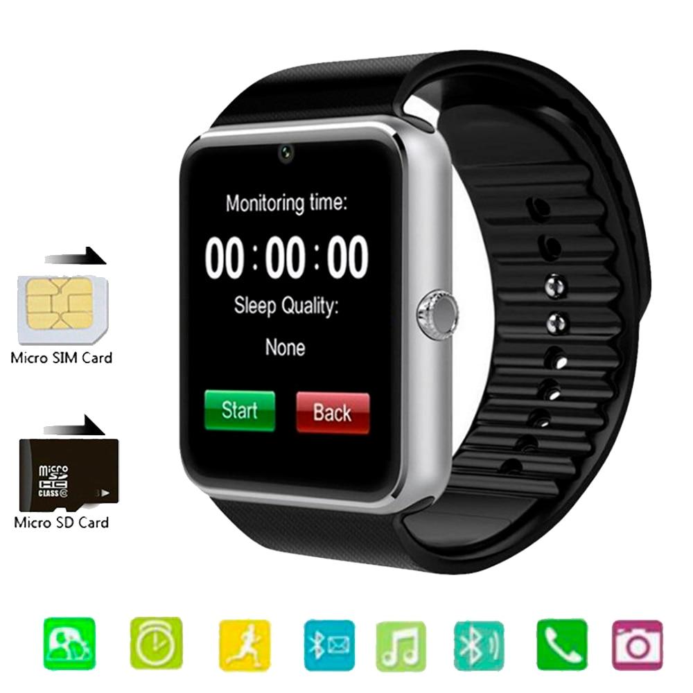 Reloj inteligente 2020 GT08 Plus, reloj de Metal con ranura para tarjeta Sim, Mensaje de presión, conectividad Bluetooth, teléfono Android, reloj inteligente PK Z60 A1