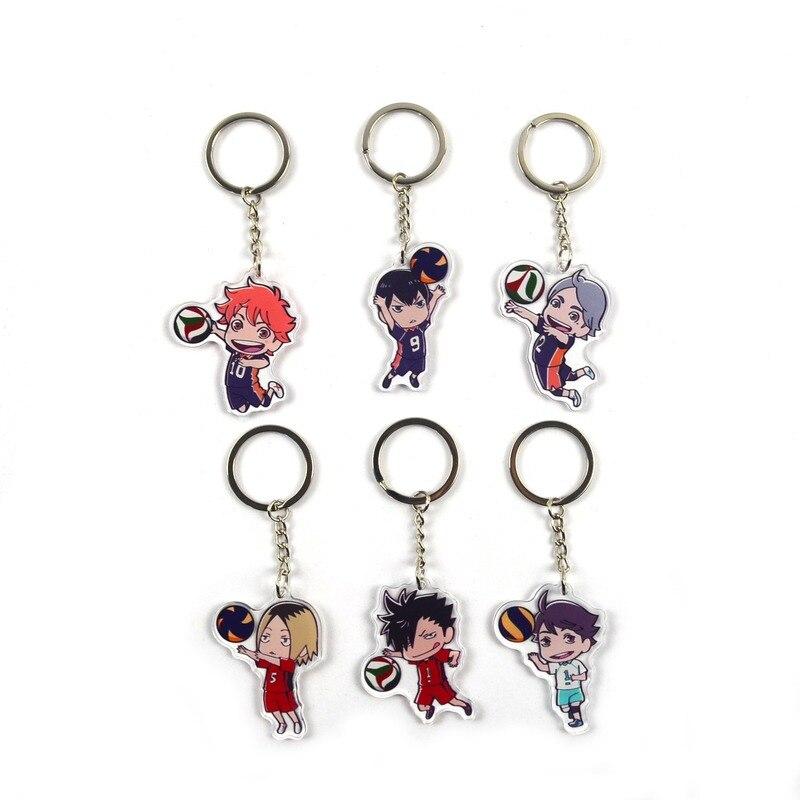 Porte-clés homme Haikyuu porte-clés femmes porte-clés chaîne pour pantalons enfants acrylique pendentif Shoyo Hinata haute qualité porte-clés Brelok