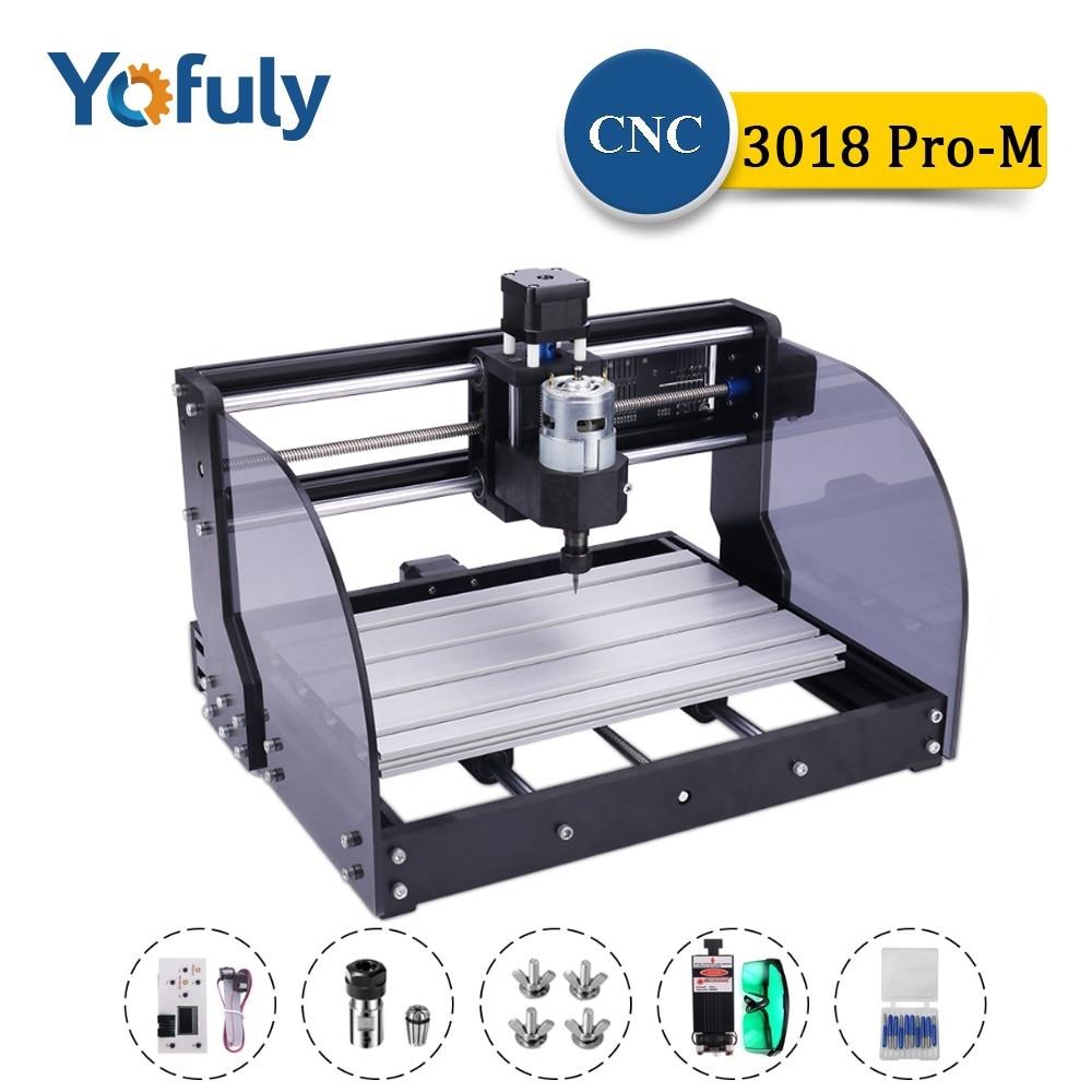 آلة النقش بالليزر CNC 3018 Pro Max ، آلة الطحن بالليزر ذات 3 محاور ، جهاز توجيه الخشب بالليزر PCB PVC الصغير CNC3018