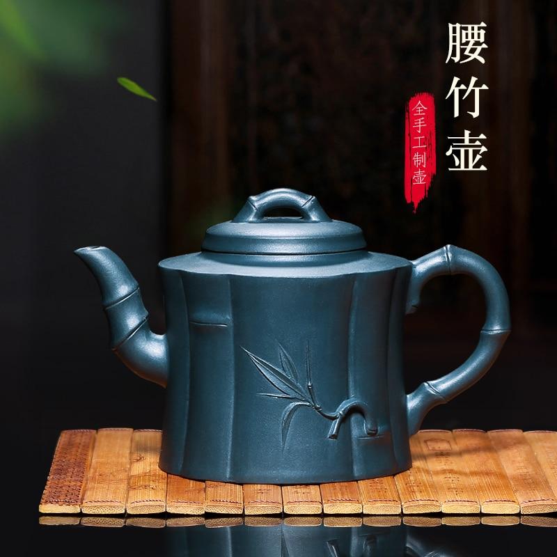 Yixing-إبريق شاي من الطين الأرجواني ، خام يدوي نقي