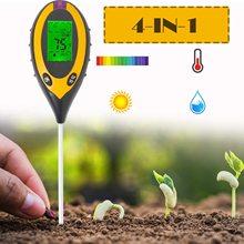 Probador de pH del suelo 3/4 en 1, probador de acidez de humedad ligera de PH, medidor de humedad de suelo de plantas, Kit de probador de suelo para flores