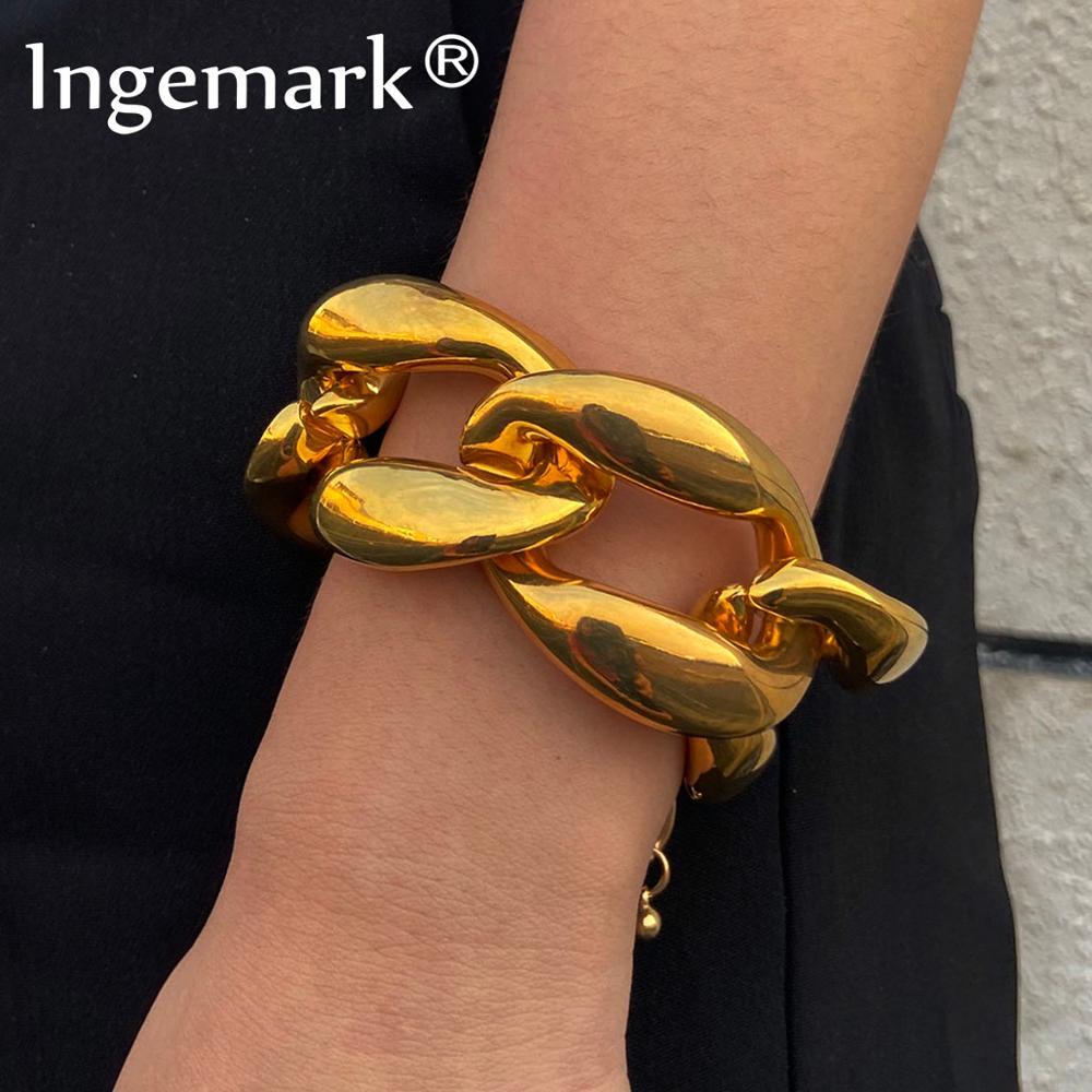 Pulseira de pulseira de corrente de aço inoxidável pulseira de jóias de mão de amigos