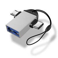 Адаптер Micro USB OTG 2 в 1 для Android Huawei, USB 3,1, преобразователи передачи данных для планшета, жесткого диска, телефона
