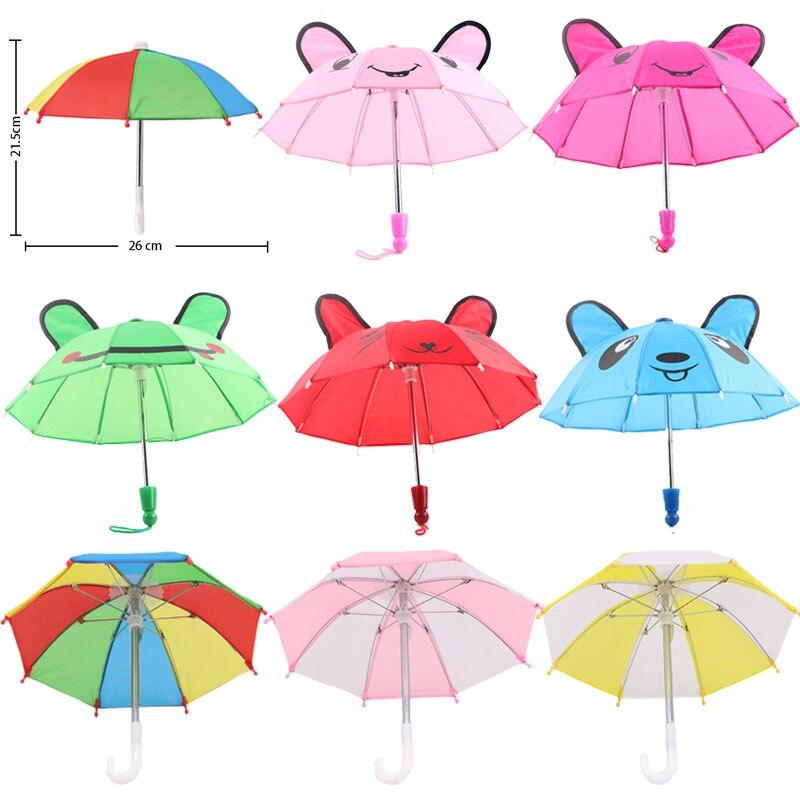 Lalka parasol przeciwdeszczowy BJD 1/3 1/4 Mini parasol śliczne uszy dla 18 Cal American & 43CM Reborn Baby noworodki Doll ,DIY rosja Doll Girl