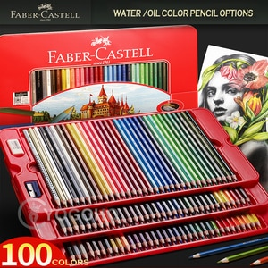 Professional Faber-Castell 12/24/36/48/60/72/100 Classic Oily color / Water Color Pencil Sketch Drawing Painting Art Supplies