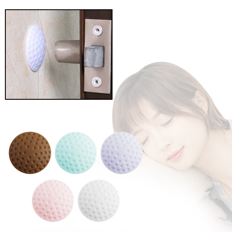 Soft Anti-Collision Silicone Doorknob Cushion Door Stopper Mute Sticker For Protecting Wall Adhesive Door Stopper Golf Modelling
