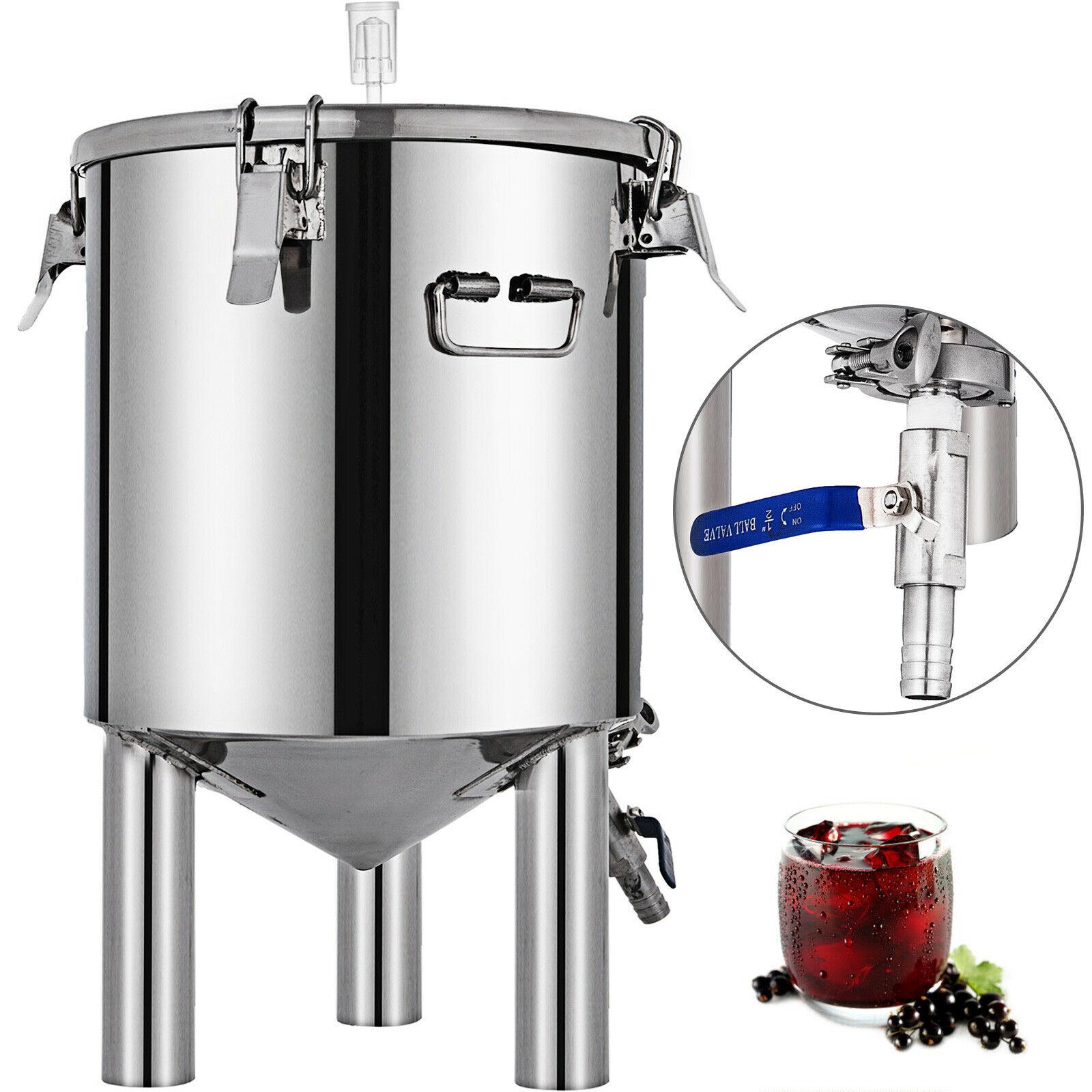 VEVOR 15L 26L 50L الكحول موزع الجعة صناعة الأغذية محلية الصنع المقطر معدات التقطير النبيذ للمطبخ الخارجي