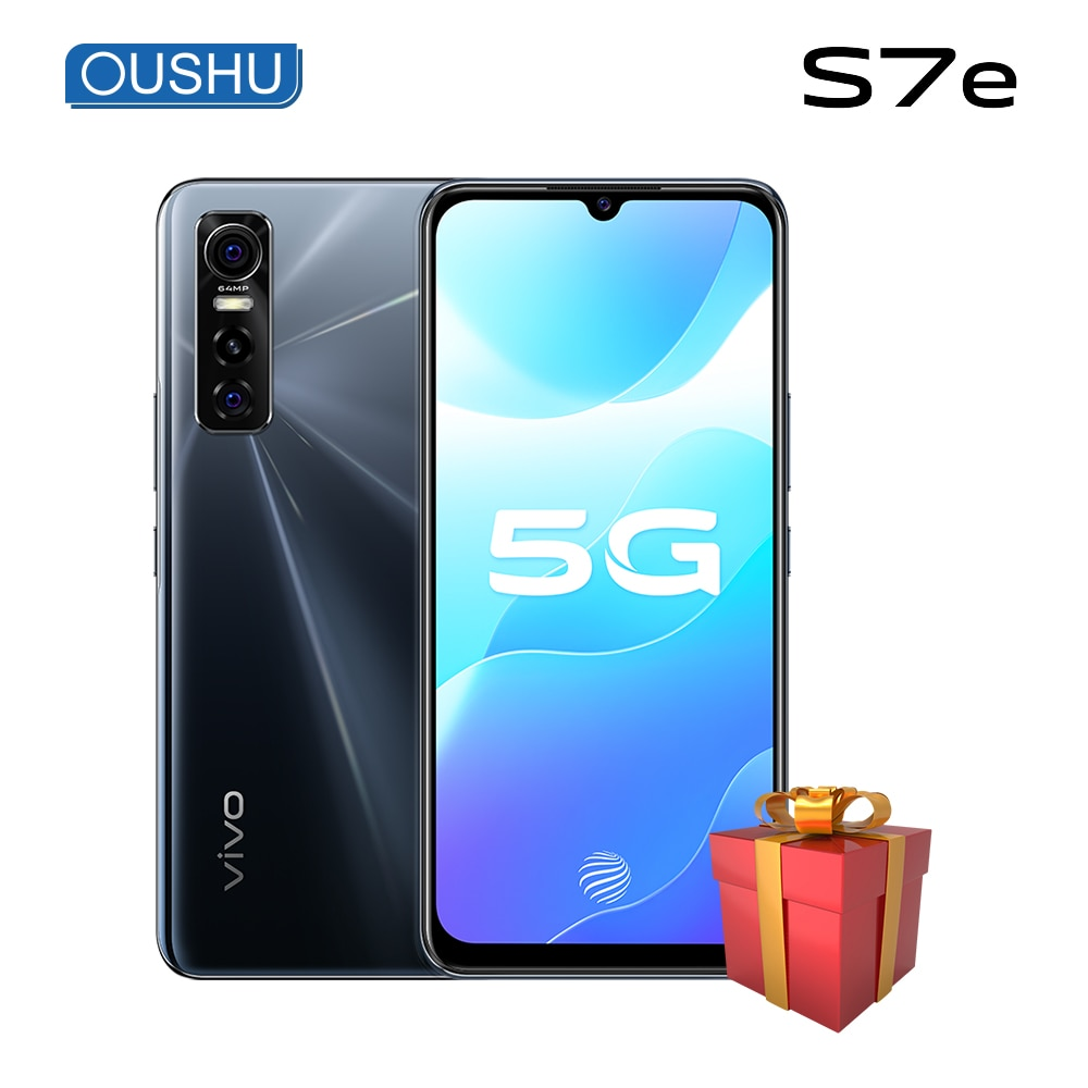 Newest vivo S7e 5G MTK Dimensity 720 6GB 128GB Smartphone 4100 mAh Bettery 33W Dash charge Face ID 64MP main camera cellphone