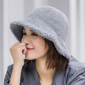 New Fisherman Hat Women Fall/winter Casual Collocation Foldable Wool Hat Simple and Fashionable Student Basin Hat
