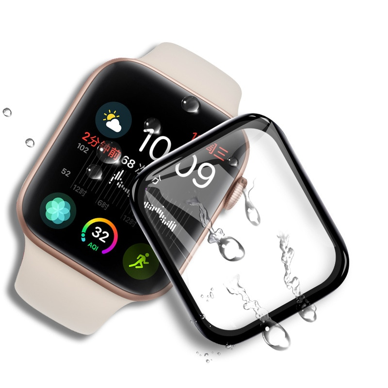 3D Curved Edge No Tempered Glass for Apple Watch Series 3 2 1 38MM 42MM Screen Protector film for iW