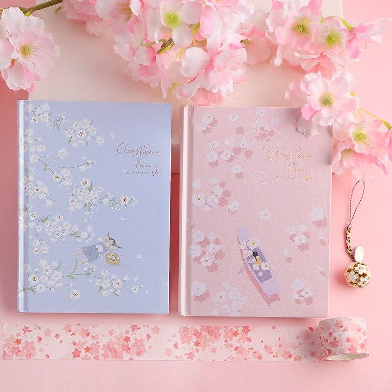 """""""Flor de cereja"""" cobertura dura diário, arte, desenhos, notebook, bloco de notas grátis, presente de papelaria"""