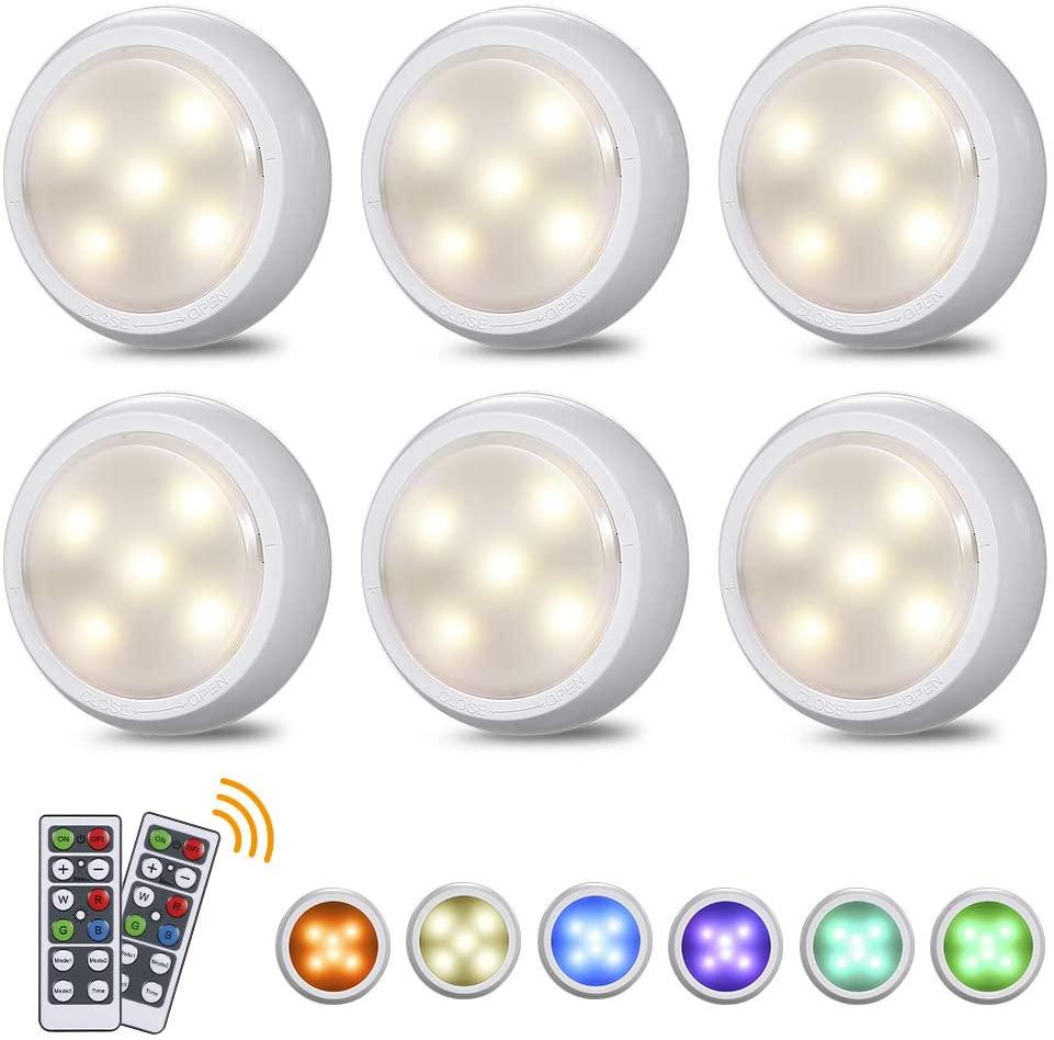 LED ضوء تحت الكابين RGB 16 ألوان اللمس عكس الضوء عفريت ليلة ضوء بطارية USB شحن درج المطبخ دولاب مصباح خزانة الملابس