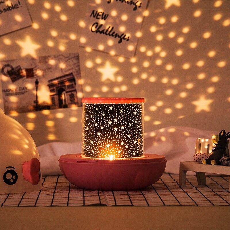 estrela projetor luzes da noite criativo romantico bonito luzes da noite de emergencia