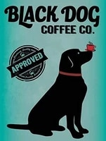 black dog mill metal tin sign kitchen cafe is home decoration