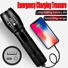 Krachtige LED Zaklamp XHP50 Torch USB Oplaadbare Waterdichte Lamp Ultra Bright Zoomable Mini Led Flash Light Hot koop