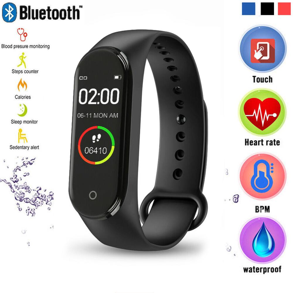 M4 Smart Wristband Heart Rate Blood Pressure Monitor Health Bracelet with Message Reminder Pedometer Smart Watch for IOS Android ogeda smart watch men sports bracelet led waterproof smart wrist band heart rate blood pressure pedometer clock for android ios