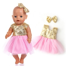 New Fashion Dress Wear For 43cm  Baby Doll 17 Inch Born Babies Dolls Clothes And Accessories, Balloo