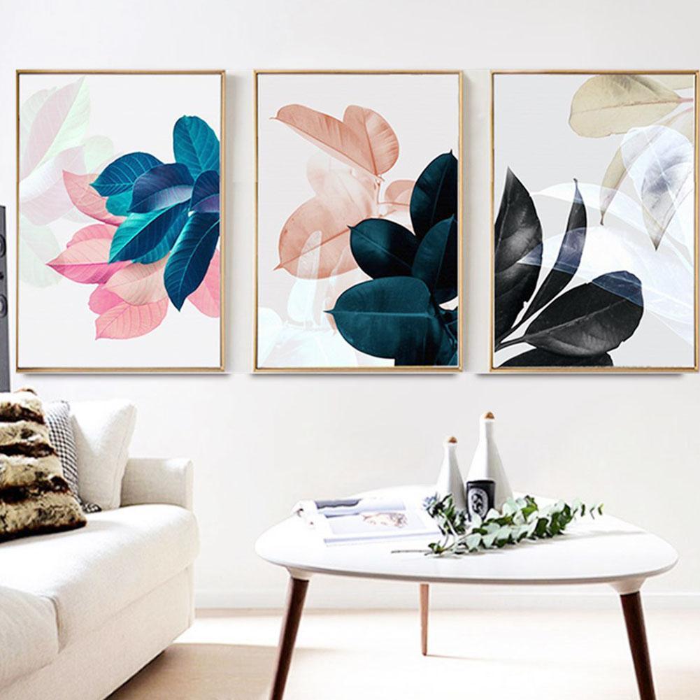 MeterMall 3 шт. настенная живопись печатная картина модный лист узор холст домашний офис Декор