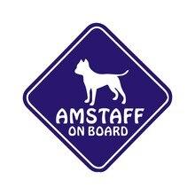 15X15CM AMSTAFF à bord chien voiture carrosserie autocollants et décalcomanies voiture style décoration porte fenêtre vinyle autocollants