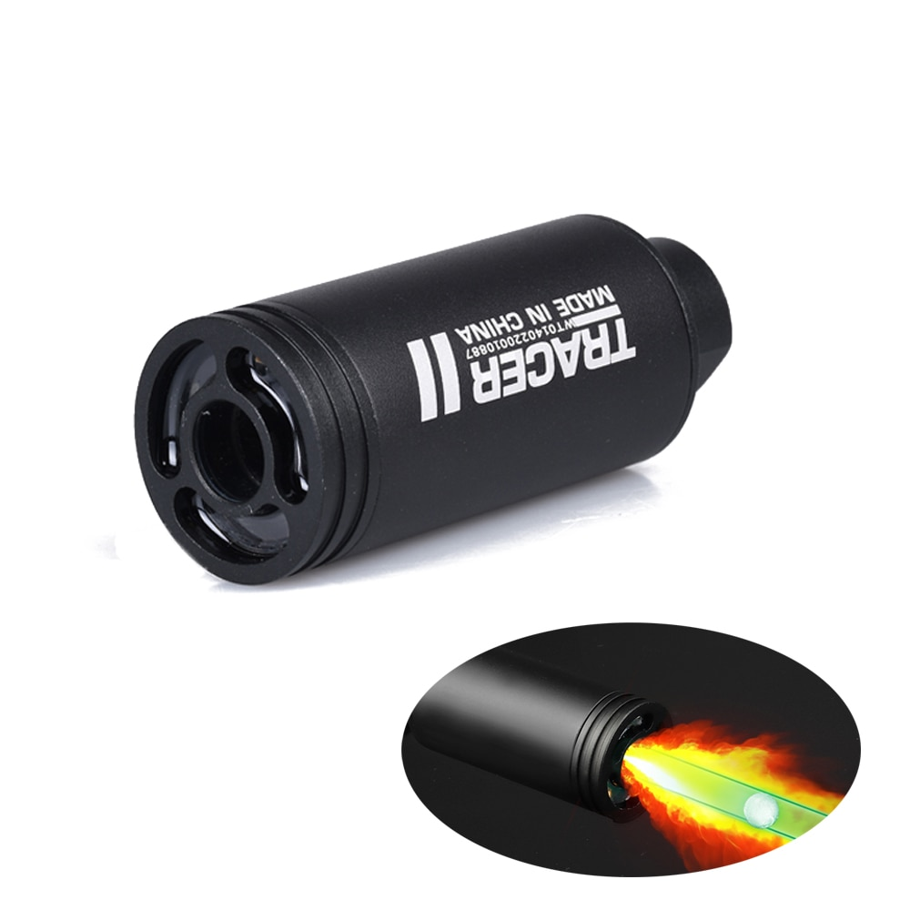 With S Spitfire Effect Fluorescence Tracer Lighter For Airsoft Pistol Tactical Paintball Shooting Accessories