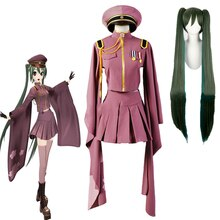 Vocaloid hatsune miku senbonzakura uniforme kimono robe tenue anime costumes cosplay pleine longueur adulte perruque ensemble
