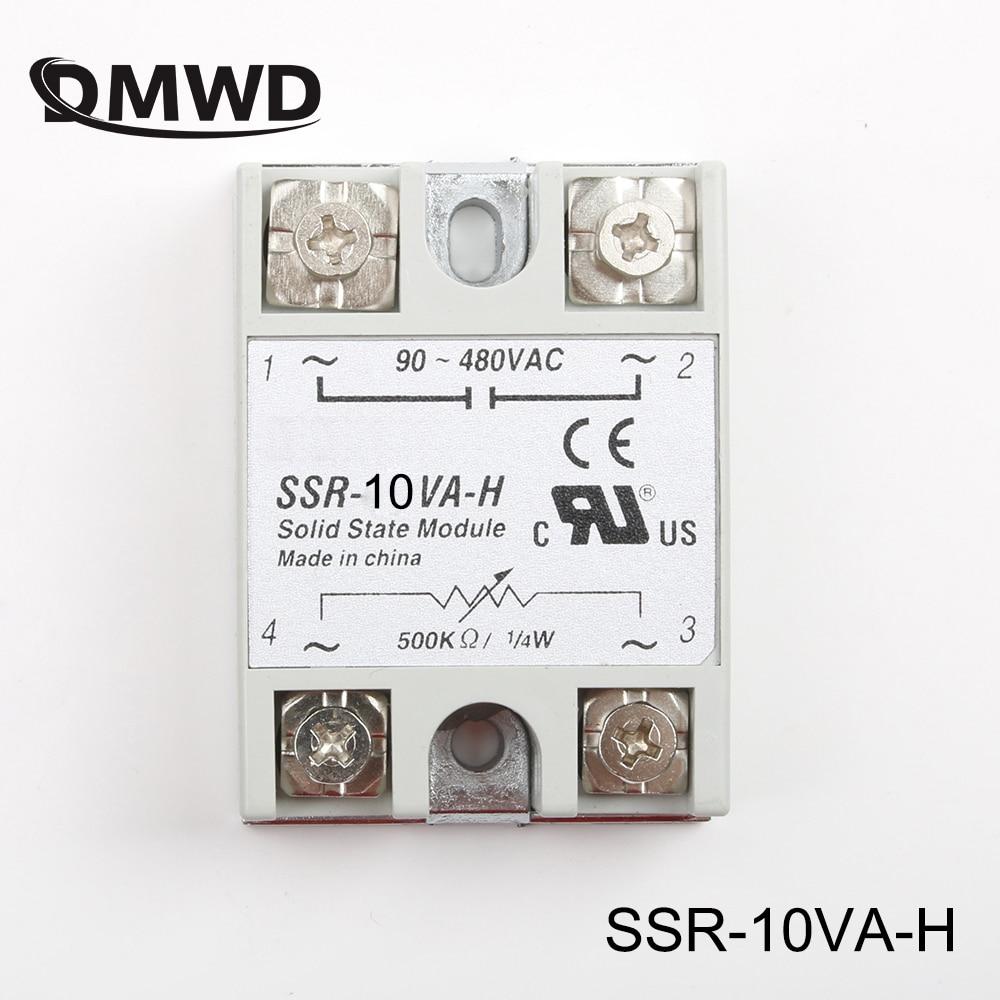 DMWD solid state relais SSR-10VA-H 10A catually 500Kohm 4w ZU 90-480V AC SSR 10VA H widerstand typ spannung regler solid state