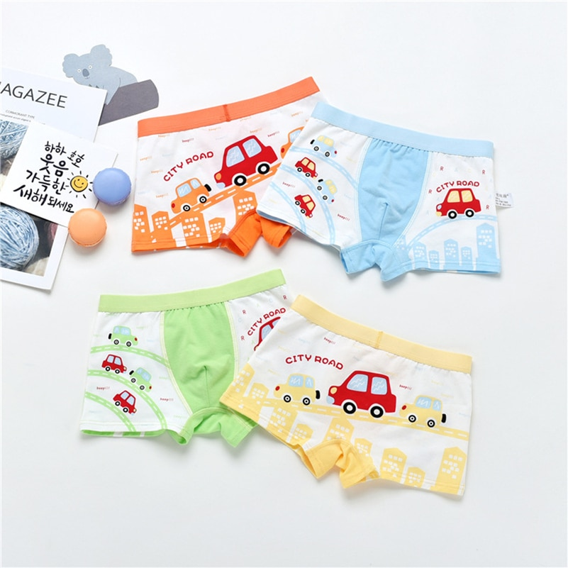 Nueva Promoción de la tienda de bragas 1 piezas calzoncillos para niños ropa interior Bebé Boxer de algodón de 2-10 Y