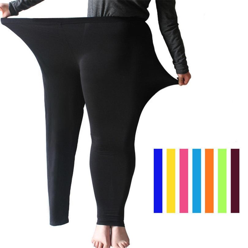 LJCUIYAO, mallas informales de cintura elástica para mujer, mallas de talla grande S-7XL, mallas grandes brillantes, mallas elásticas, pantalones de entrenamiento, Leggings