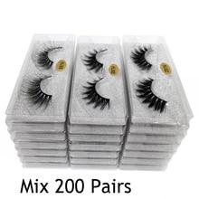 Gros cils 30/50/100/200 paires 3D vison cils en vrac naturel vison cils en gros faux cils maquillage faux cils