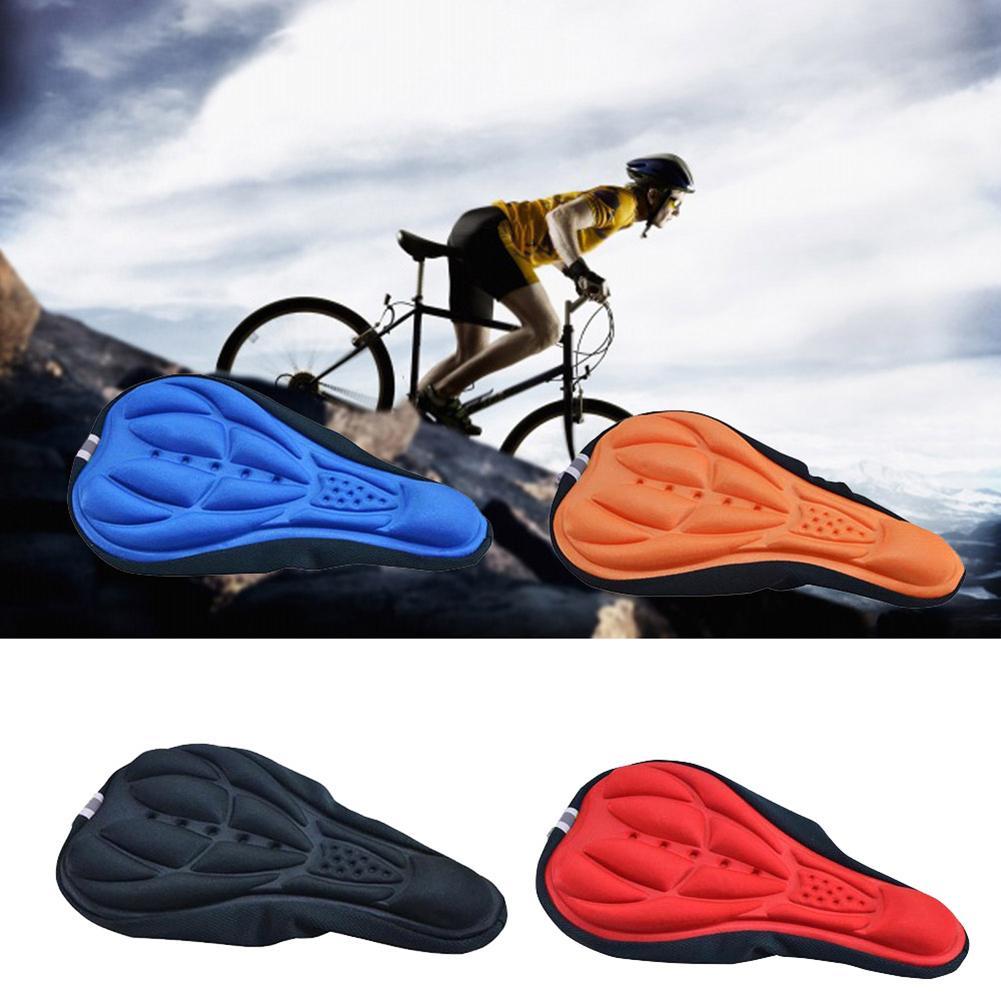 4 Color bicicleta de montaña MTB ciclismo engrosada Extra confort Ultra suave 3D Gel Pad funda de cojín bicicleta asiento, sillín, cojín cubierta